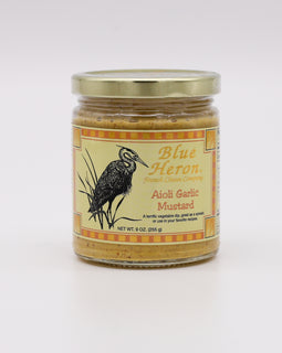 Blue Heron Mustard: Aoli Garlic 9oz