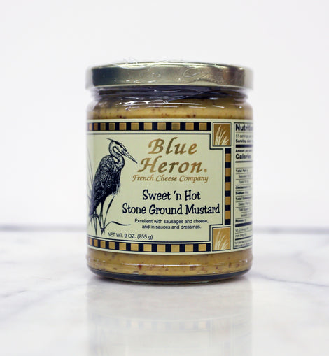 Blue Heron Mustard: Sweet & Hot Stone Ground 9oz