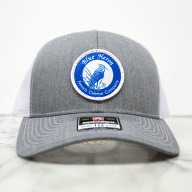 Blue Heron Trucker Hat - Grey White