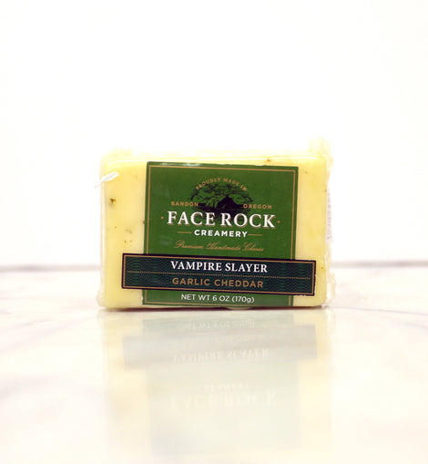 Face Rock Creamery Cheddar: Vampire Slayer Garlic 6oz