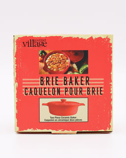 Gourmet Village Ceramic Brie Baker Red
