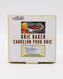 Gourmet Village Ceramic Brie Baker White