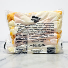 Hennings Curds Two Tone Cheddar Cheese Curds 10oz