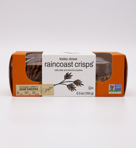 Raincoast Crisps Crackers: Salty Date & Almond 5.3oz
