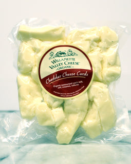 Willamette Valley Cheese Cheddar: Organic Curds 8oz