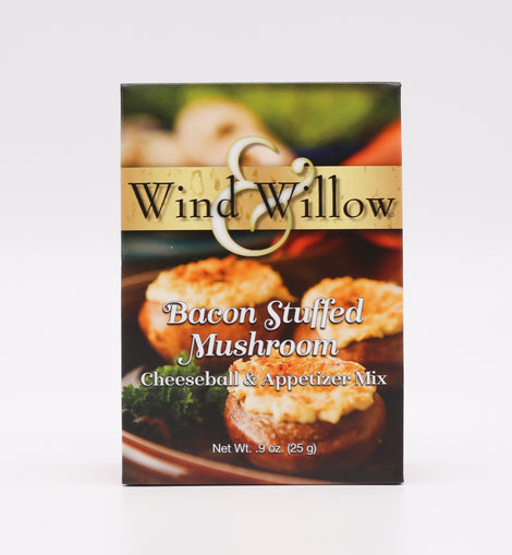 Wind & Willow Cheeseball & Appetizer Mix - Bacon Stuffed Mushroom .9oz