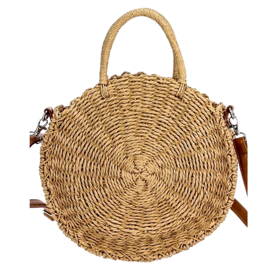 Straw Adore Purse comes with convertible straps or handles.