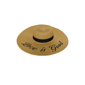 Love is Good Embroidered Beach Hat