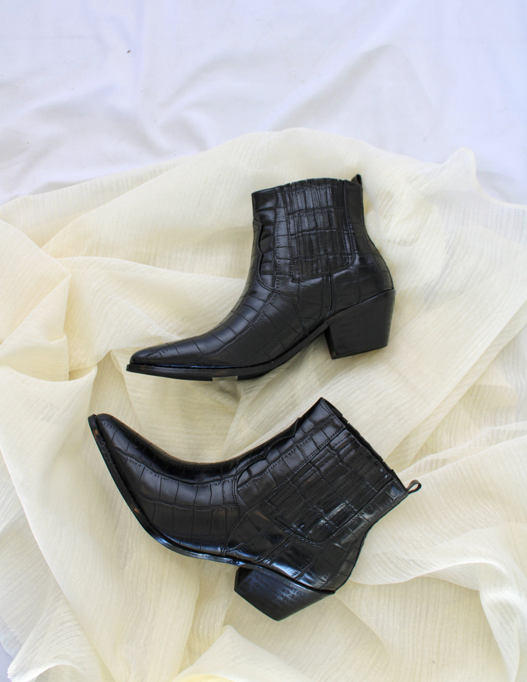 Croco Short Bootie