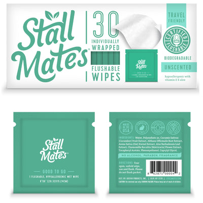Stall Mates: 30 Wipe Travel Pack (on-the-go singles packets)
