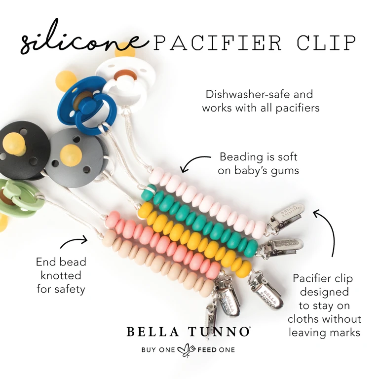 Bella Tunno Pacifier Clip (mult colors)