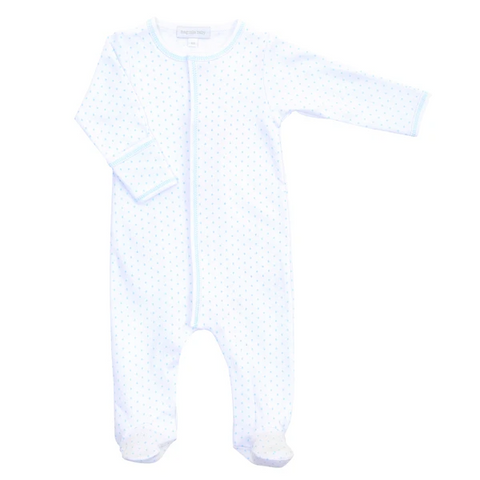 Magnolia Baby Blue Mini Dot Footie