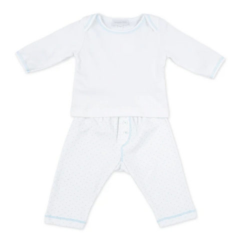 Magnolia Baby Blue Mini Dot Pant Set