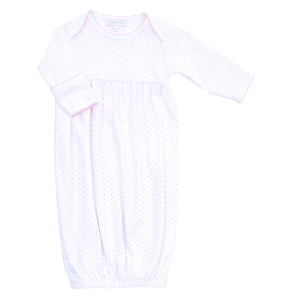 Magnolia Baby Pink Mini Dot Baby Gown