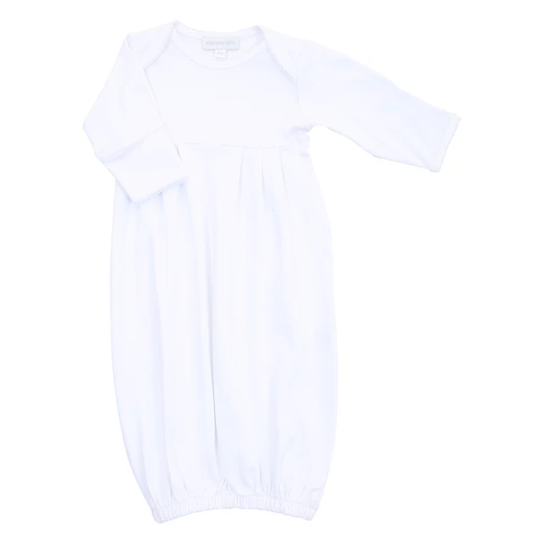 Magnolia Baby White Baby Gown
