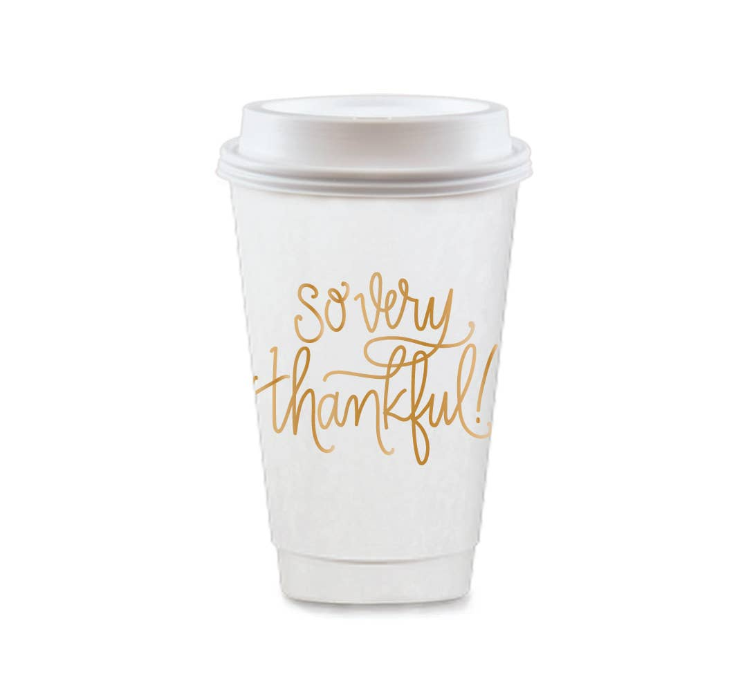 To-Go Coffee Cups - So Very Thankful (2 colors)
