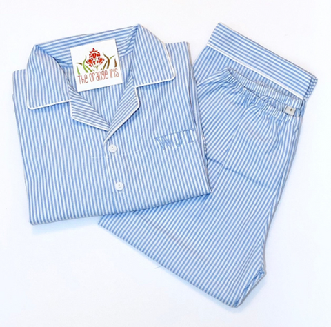 Boys Blue Stripe PJ set