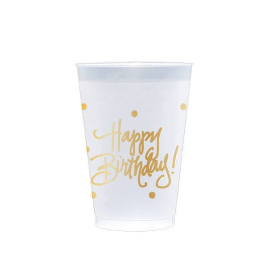 Happy Birthday Frost Flex Cup