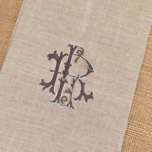 Antique Two Letter Monogrammed Hand Towel