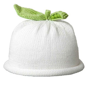 Pea Pod Baby Hat- solid white