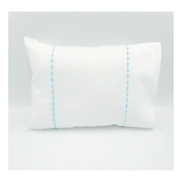 Pique Baby Pillow with Ric Rac Trim (mult colors) and Form