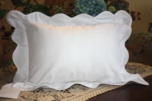 Monogrammed Scalloped Pillow (mult colors)