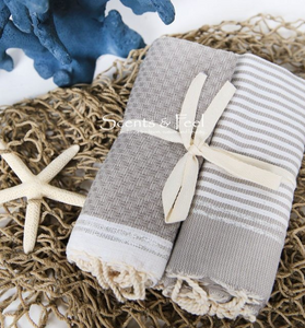 Set of Two Fouta Guest Towels