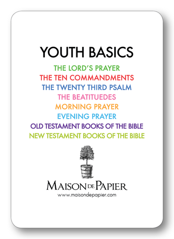 Youth Basics verse cards
