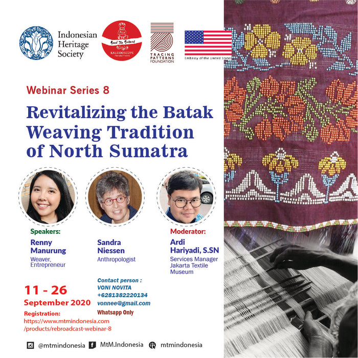 Revitalizing the Batak Weaving Tradition Webinar
