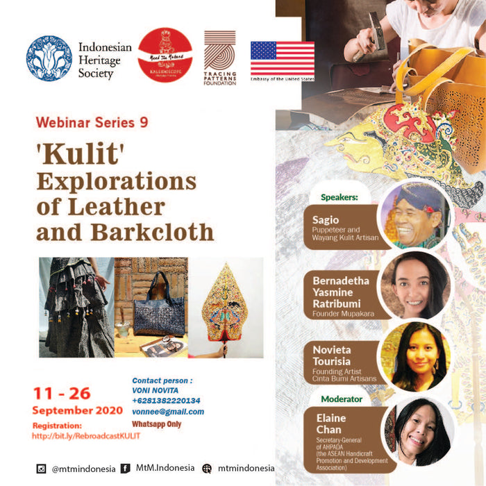 'Kulit' Explorations of Leather and Barkcloth Webinar