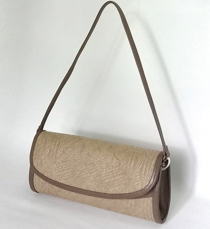 Borneo Chic - Slender Bemban clutch in Olive ( B7837)