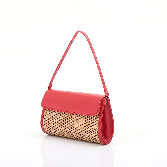 Borneo Chic - Classic Rattan Korit Clutch in Red