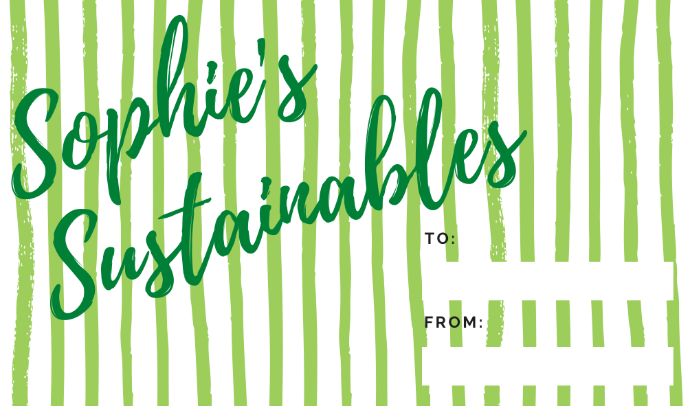 sophie's sustainables gift card