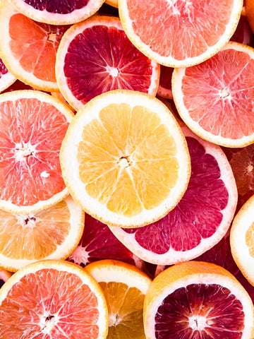 citrus fruits slices oranges, grapefruits, lemons