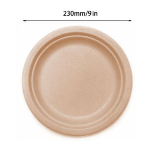 50PCS  100% Compostable Paper Plates 6,7, or 9 inches
