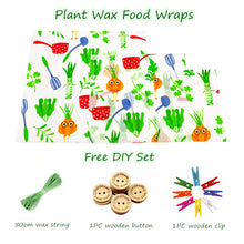 Load image into Gallery viewer, VEGAN Reusable Food Wraps NO Beeswax Organic Plant-Based Wax ALTERNATIVE Zero Waste Beeswax Food Wrap