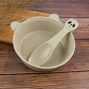 3 Piece Set Wheat Straw Dish for Kids