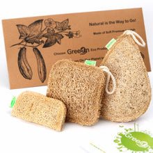 Load image into Gallery viewer, Natural Fiber Reusable Kitchen Sponge 3 Piece Set