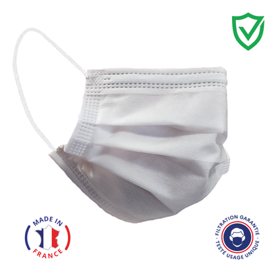 4-Ply Disposable Civilian Mask - Made in France - CoShield Europe