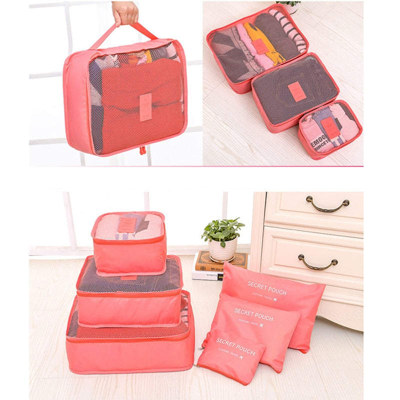 6pc Packing Cube Suitcase Organizer