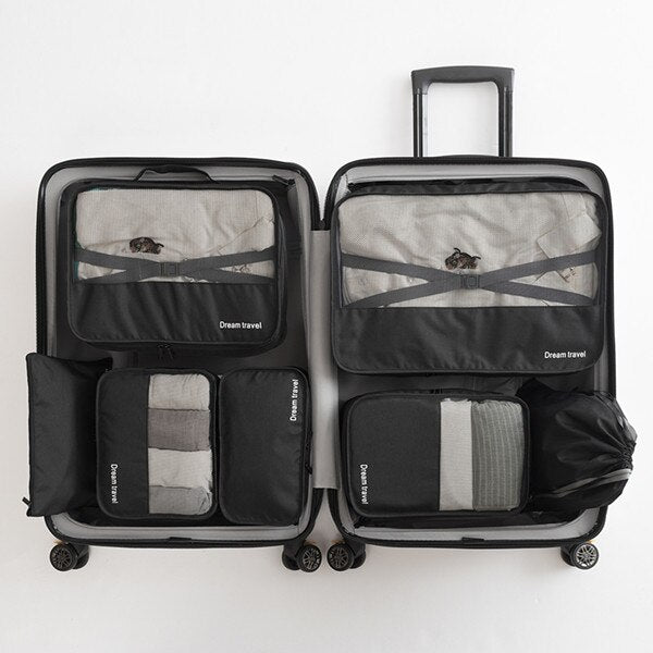 7pc Packing Cube Suitcase Organizer
