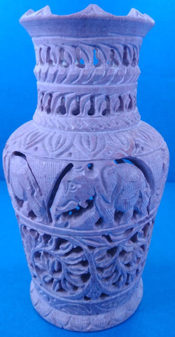 Stone Flower Vase Carving