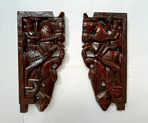 Wooden Brackets Pair
