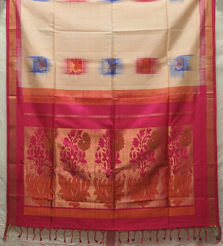 Dharmavaram Pure Silk saree with zari design and  with blouse