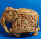 Wooden Elephant Carving Patha Fine