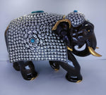 Wooden Elephant Fine Metal Painted