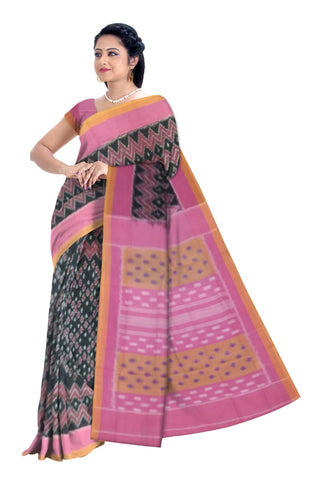 Pochampalli Ikkat Cotton Saree W/Blouse