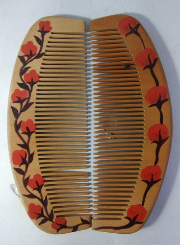 Wooden Combs Nirmal Paint(Pack of 2)