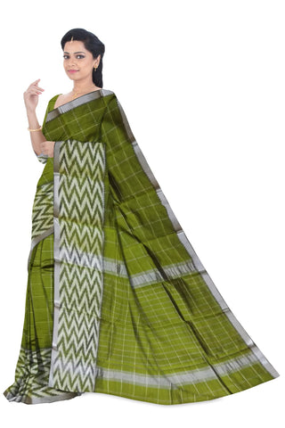 Mangalagiri Cotton Silk Zari Checks Sarees W/Blouse