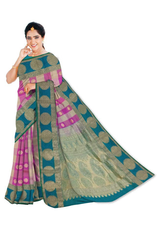 Dharmavaram Paithani Design Pure Silk Saree W/Blouse